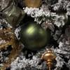 """Vickerman 8"""" Matte Glitter Swirl Ball Ornament Moss Green - image 4 of 4"""