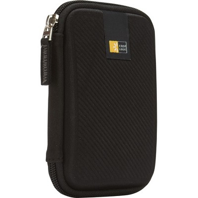 Case Logic Portable Hard Drive Case - EVA Foam, Elastic, Mesh - Black