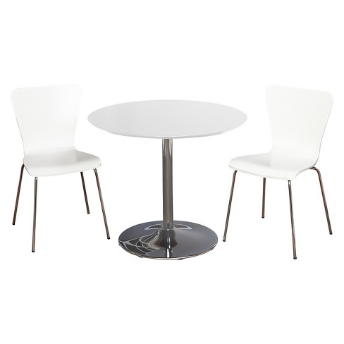 Hillsboro Dining Set White 3 Piece - TMS - image 1 of 2