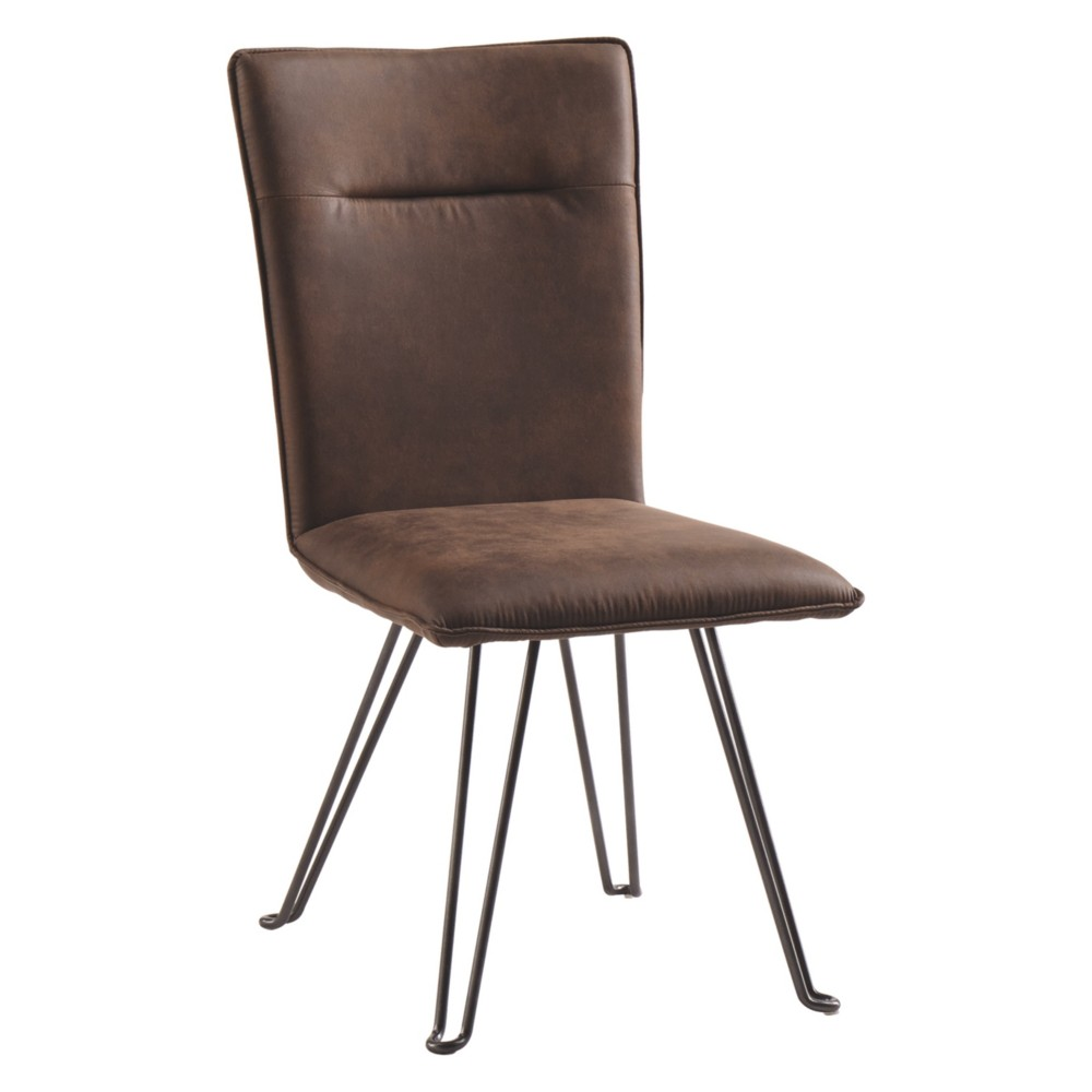 Set of 2Moddano Dining Upholstered Side Chair Brown/Black - Signature Design by Ashley