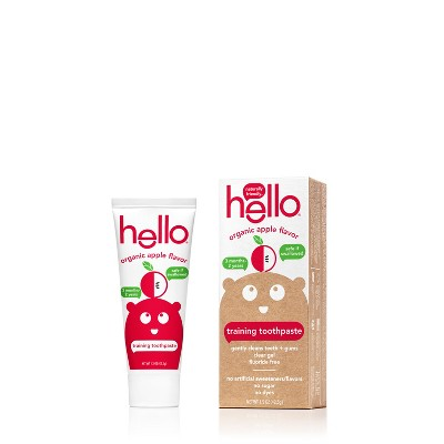 hello organic apple toddler training toothpaste - 1.5oz