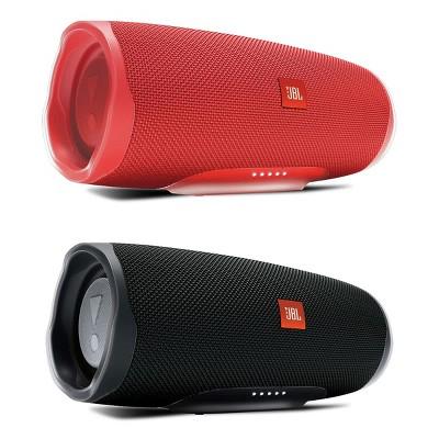 JBL Charge 4 Waterproof Portable Wireless Bluetooth Speaker Bundle - Pair