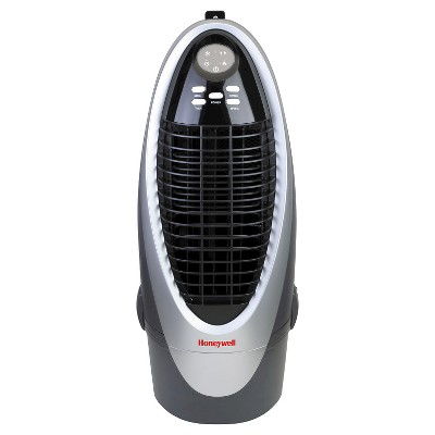 Honeywell - 21 Pt. Indoor Portable Evaporative Air Cooler with Remote Control - Silver/Gray
