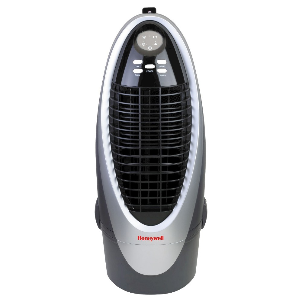 Honeywell 21 Pt. Indoor Portable Evaporative Oscillating Air Cooler With Remote Control - Silver/Gray