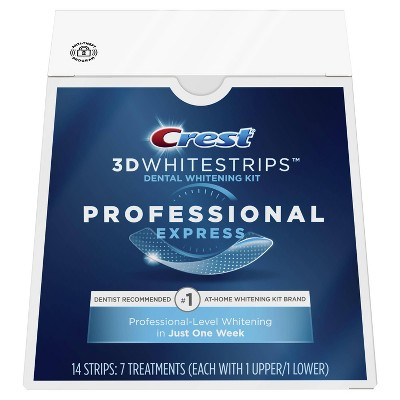 Crest 3D Whitestrips Professional Express Teeth Whitening Kit with Hydrogen Peroxide - 7 Treatments