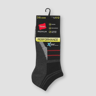 Men's Hanes Premium Performance No Show Socks 3pk - 6-12