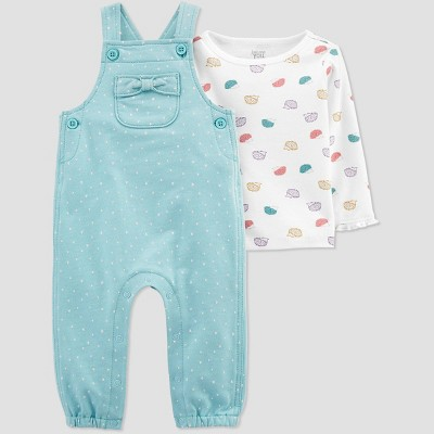 Baby Girls' Dot Top & Bottom Set - Just One You® made by carter's Blue 3M