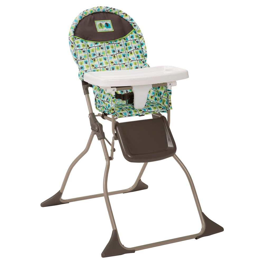 Cosco Simple Fold High Chair in Elephant Squares