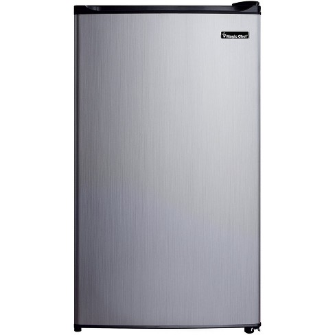 Magic Chef MCBR350S2 3.5 Cubic Feet Compact Mini Refrigerator & Freezer with Adjustable Temperature Control, Silver - image 1 of 2