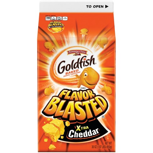 Goldfish Flavor Blasted Xtra Cheddar Crackers - 30oz - image 1 of 6