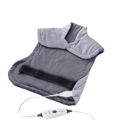 Pure Relief Extra Long Back And Neck Gray Heating Pad by Pure Enrichment