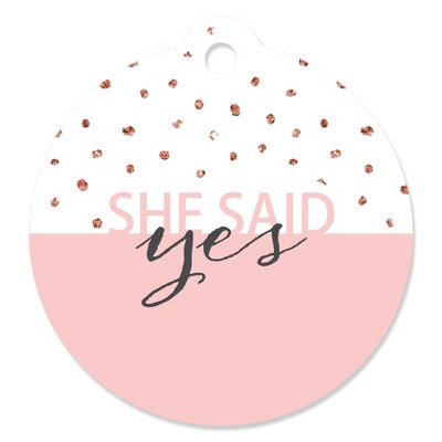 Big Dot of Happiness Bride Squad - Rose Gold Bridal Shower or Bachelorette Party Favor Gift Tags (Set of 20)