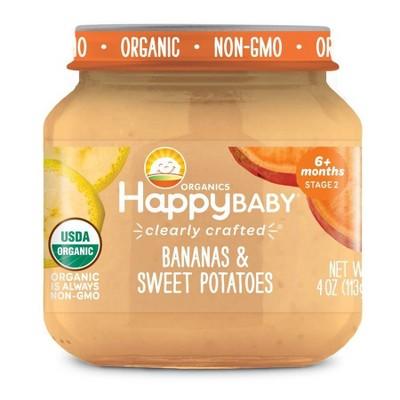 HappyBaby Fruit And Vegetable Snacks Bananas & Sweet Potatoes Baby Food - 4oz