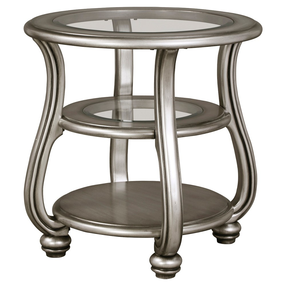 Coralayne End Table - Silver Finish - Signature Design by Ashley