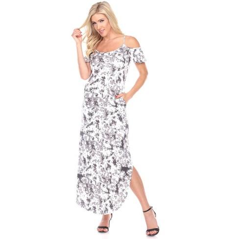 Women's Cold Shoulder Tie-Dye Maxi Dress - White Mark - image 1 of 3