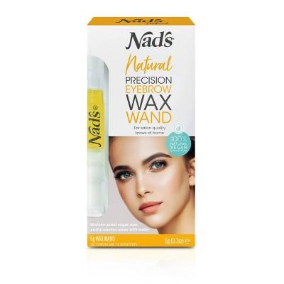 Nad's Natural Precision Eyebrow Wand Waxing Kit - 12ct
