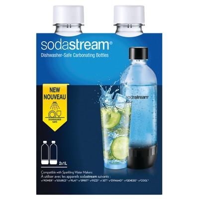 SodaStream 1L Carbonating Bottle Twinpack - White