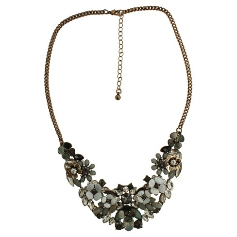 "Women's Fashion Statement Necklace - Gold(16"") - image 1 of 1"