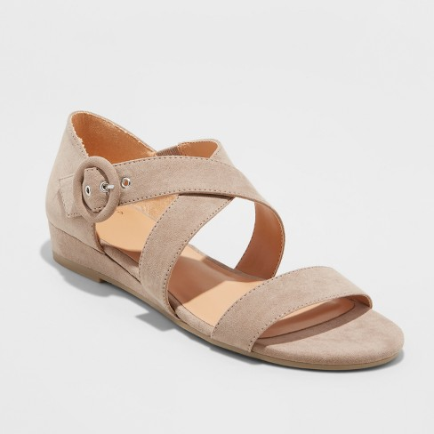 d5663e68be98 Women s Adonia Ankle Strap Sandals - A New Day™ Taupe 7   Target