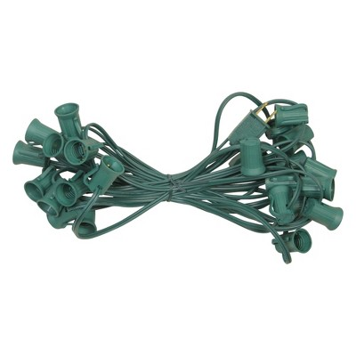 Northlight 25' Green Commercial C9 Christmas Light Socket Set