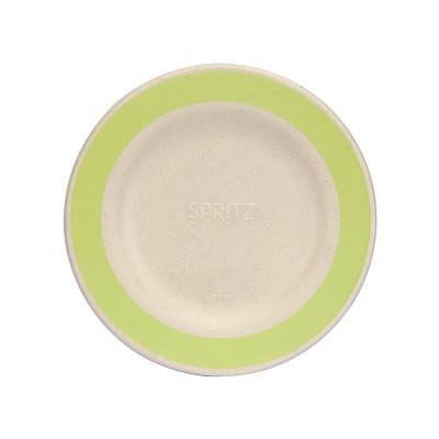 "7.5"" 15ct Sugarcane Snack Plates Compostable Dinnerware Green - Spritz™"
