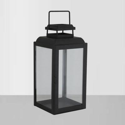 13  Glass Outdoor Lantern - Black - Threshold™