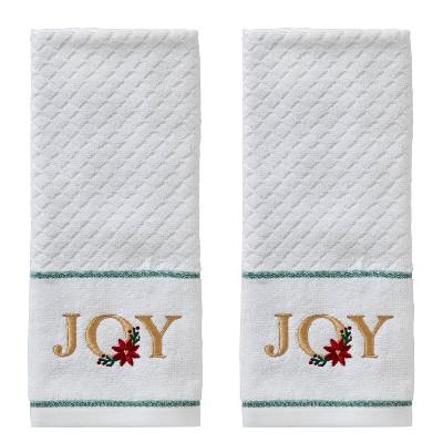 2pk Joy Hand Towel Set White - SKL Home