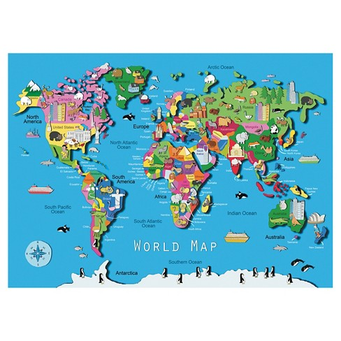 World Map 60pc Puzzle : Target