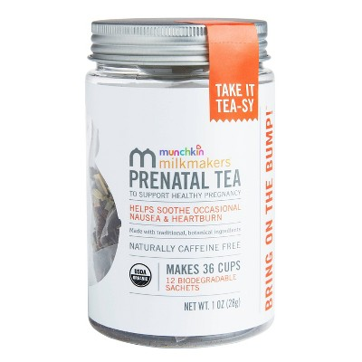 Munchkin Milkmakers Organic Prenatal Tea With Ginger & Red Raspberry Leaf - 12ct
