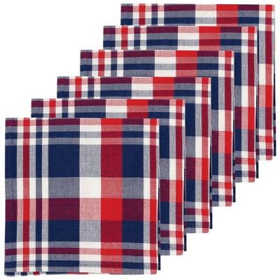 C F Home Harbor Plaid Patriotic Cotton Napkin Set Of 6 Target