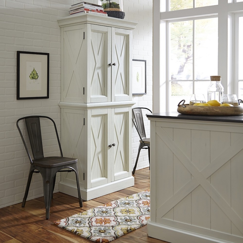 Seaside Lodge Pantry - White - Home Styles