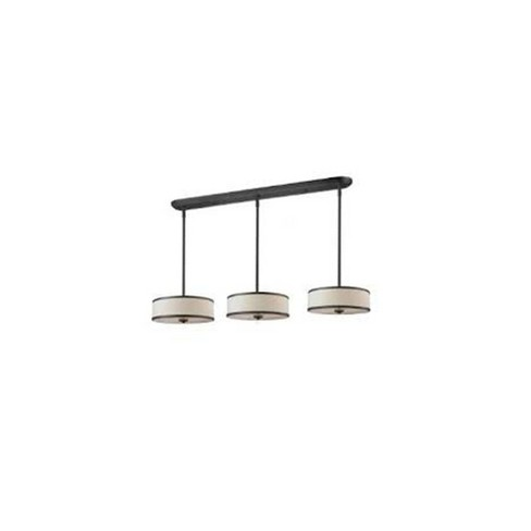 Convertible Pendant Ceiling Lights with Crème Linen Glass (Set of 3) - Z-Lite - image 1 of 1