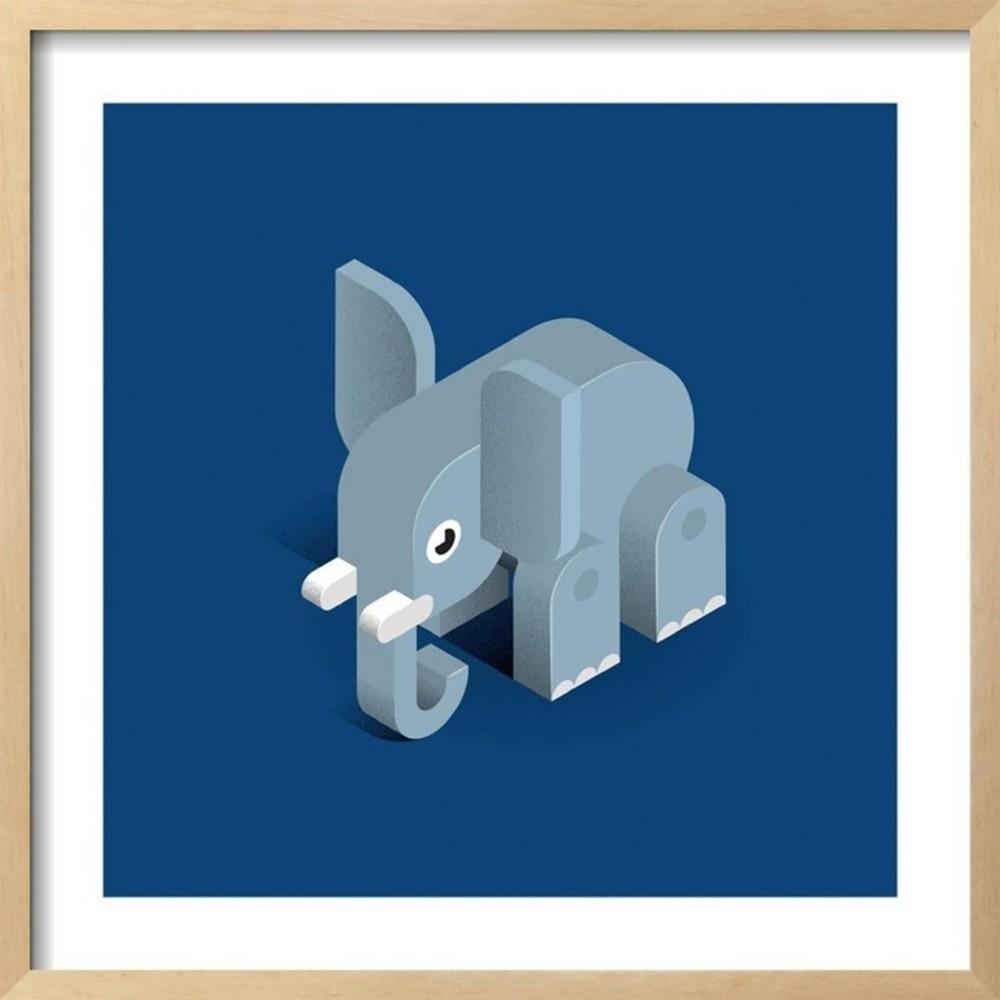 Elephant By Bo Virkelyst Jensen Framed Wall Art Poster Print 25