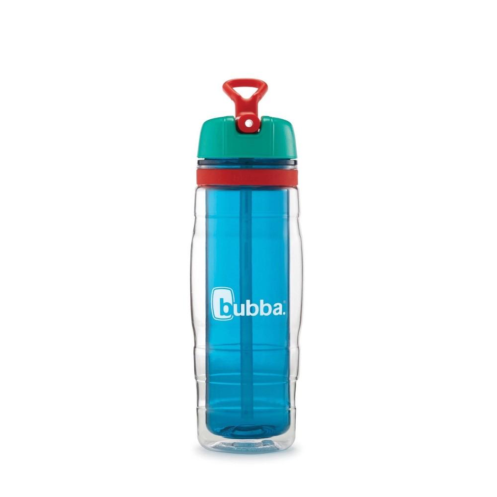 Image of Bubba 16oz Plastic Kids Raptor Water Bottle Aqua, Blue