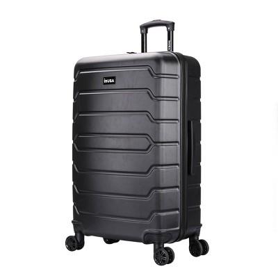 """InUSA Trend 28"""" Lightweight Hardside Spinner Suitcase - Black"""