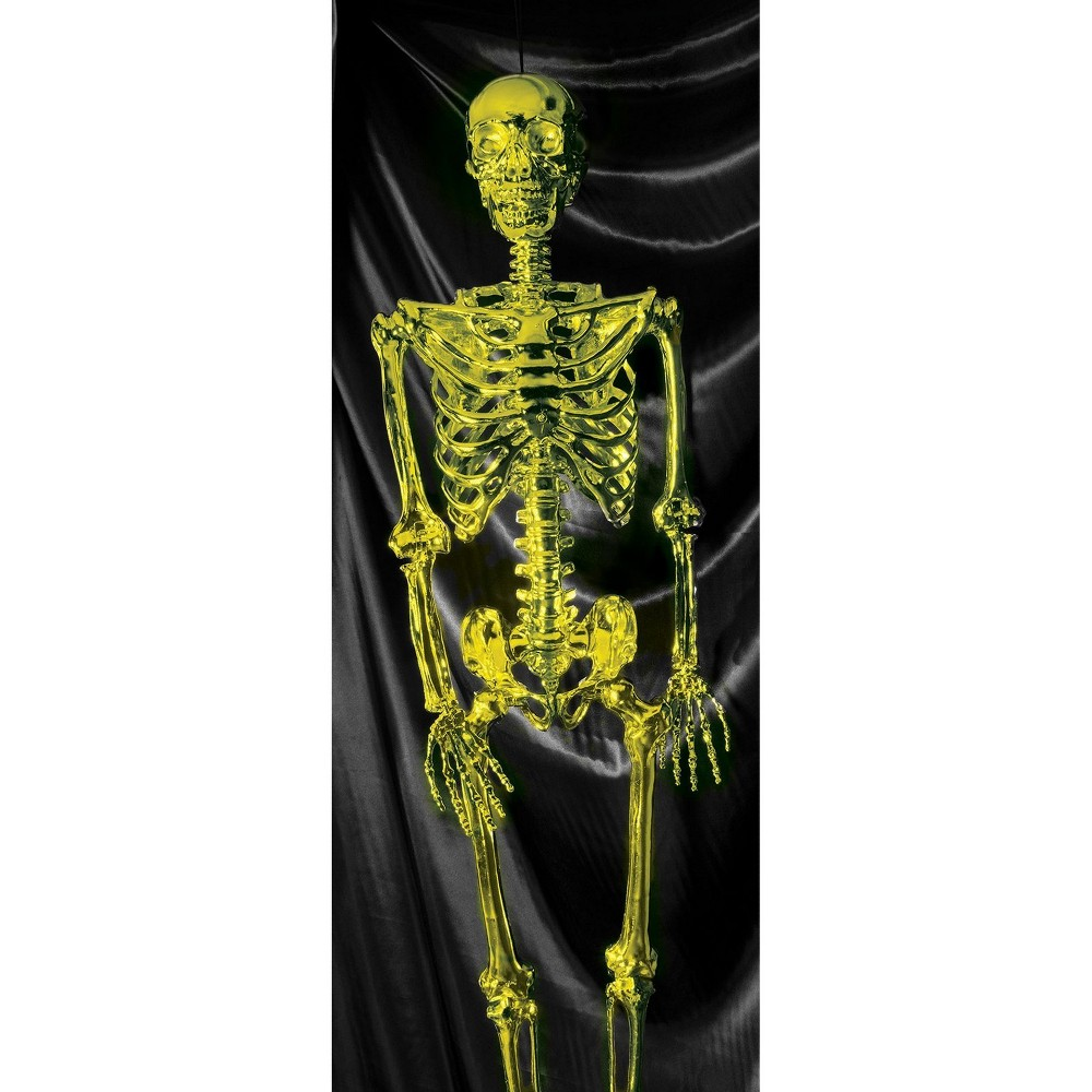 Image of 60 Halloween Posable Skeleton- Gold, Multi-Colored