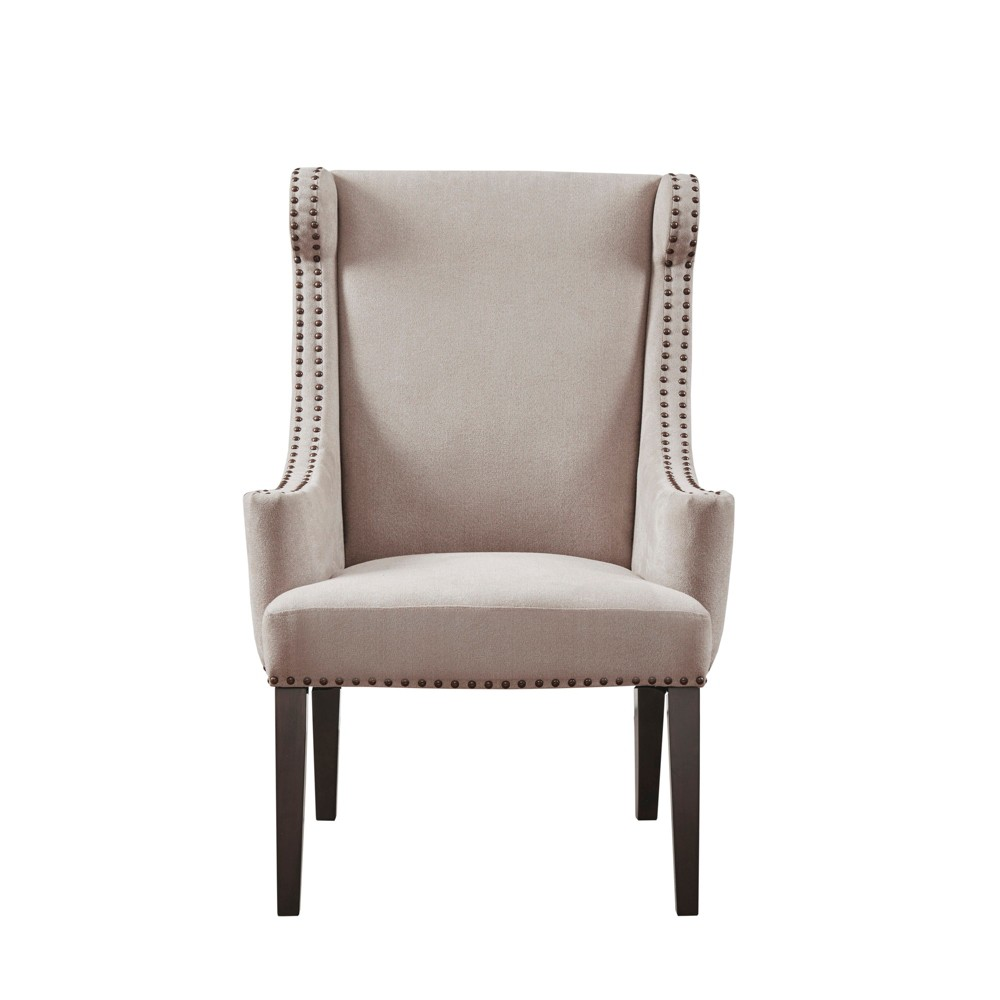 Accent Chairs Taupe Brown