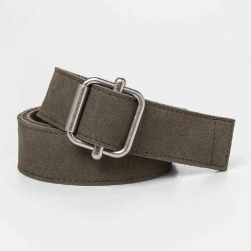 Men's Suede Belt - Goodfellow & Co™ Olive Tree M - image 1 of 2