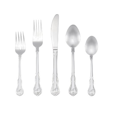RiverRidge 46pc Personalized Silverware Set Bouquet Pattern - M
