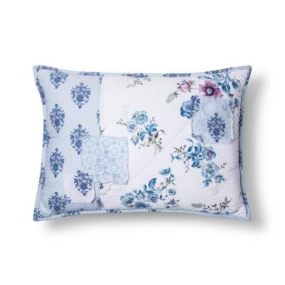 Blue Dascha Patchwork Throw Pillow - Simply Shabby Chic®