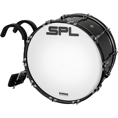 Sound Percussion Labs Birch Marching Bass Drum with Carrier - Black - image 1 of 4