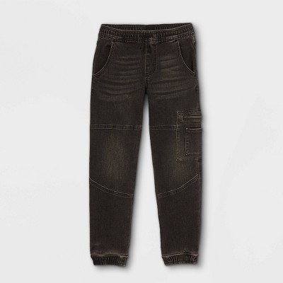 Boys' Super Stretch Utility Jogger Jeans - art class™ Black