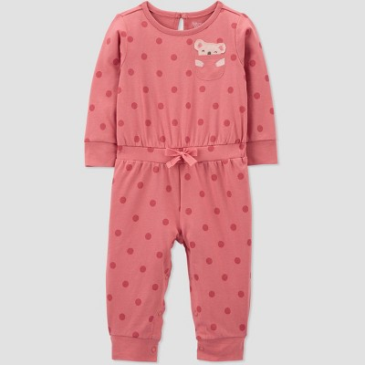 Baby Girls' Koala Polka Dot Jumpsuit - Just One You® made by carter's Pink 3M