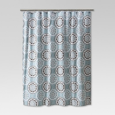 Medallion Shower Curtain Blue/Brown - Threshold™