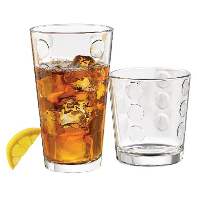 Libbey® 12pc Dot Pattern Assorted Tumblers