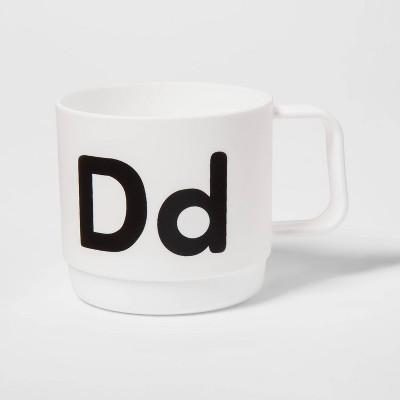 8oz Plastic Kids Monogram Mug - Pillowfort™