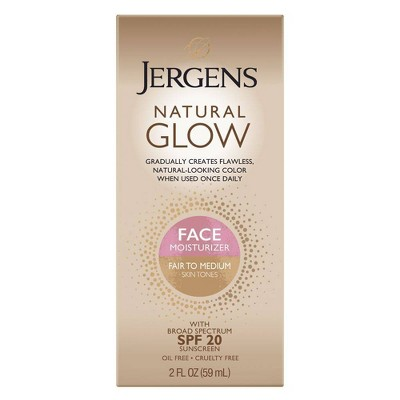 Jergens Natural Glow Face Moisturizer 2oz (Fair/Medium)