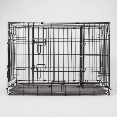 Wire Collapsible Dog Crate - Black - Boots & Barkley™