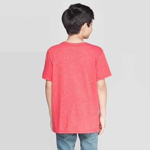 e13a1a83 Boys' Pokemon Detective Pikachu Stencil Short Sleeve T-Shirt - Red S ...