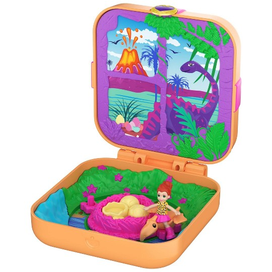 Polly Pocket Hidden Hideouts Dino Discovery Playset image number null